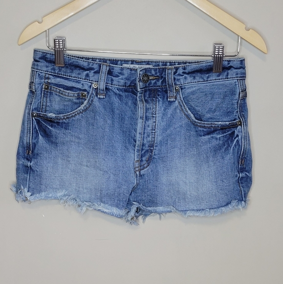 Free People Cut Off Distressed Denim Size 27